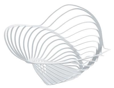 Tavola - Cesti, Fruttiere e Centrotavola - Cesto Trinity - / Ø 33 x 16 cm di Alessi - Bianco - Acciaio verniciato