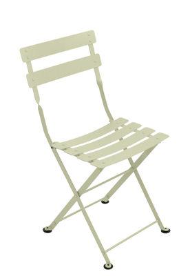 Chaise enfant Tom Pouce / Pliante - Acier - Fermob tilleul en métal
