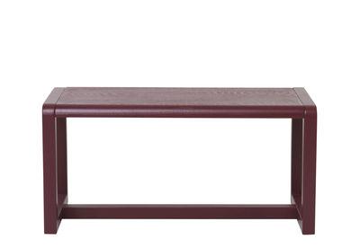 Furniture - Kids Furniture - Little Architect Children's bench - / Wood - L 62 cm by Ferm Living - Burgundy - Ash plywood