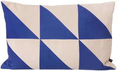 Interni - Cuscini  - Cuscino Twin Triangle - / 60 x H 40 cm di Ferm Living - Blu - Cotone biologico