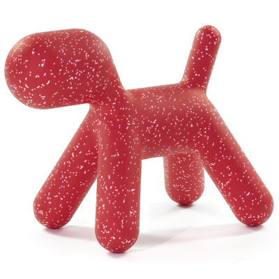 Furniture - Kids Furniture - Puppy XL Decoration - /  L 102 cm - Limited Christmas 2020 edition by Magis Collection Me Too - Red / Mottled white - roto-moulded polyhene