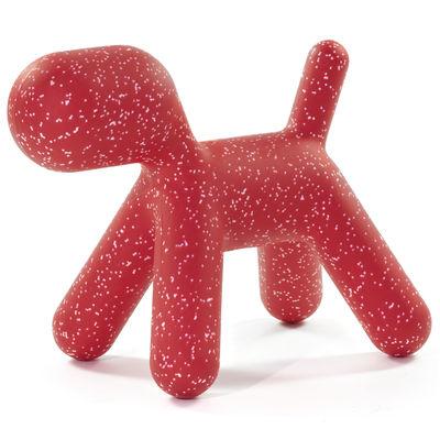 Décoration Puppy XL / L 102 cm - Edition limitée Noël 2020 - Magis Collection Me Too rouge en matière plastique
