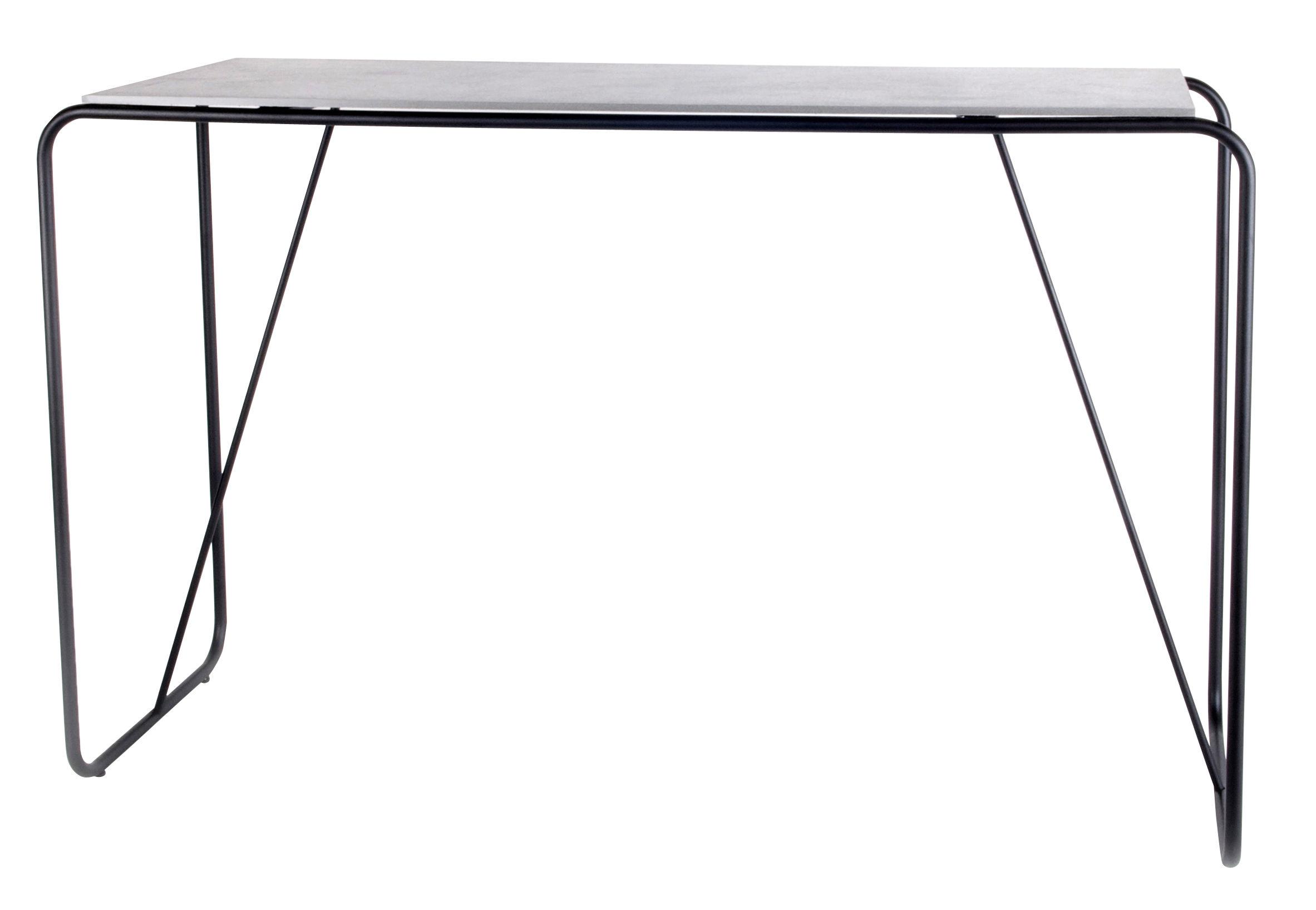 Furniture - Office Furniture - Yoso Desk - Cement / L 120 x H 76 cm by XL Boom - Grey ciment / Black -  Fibre-ciment, Epoxy lacquered steel