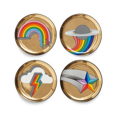 Dessous de verre POP! / Set de 4 - Porcelaine - Jonathan Adler multicolore,or en céramique