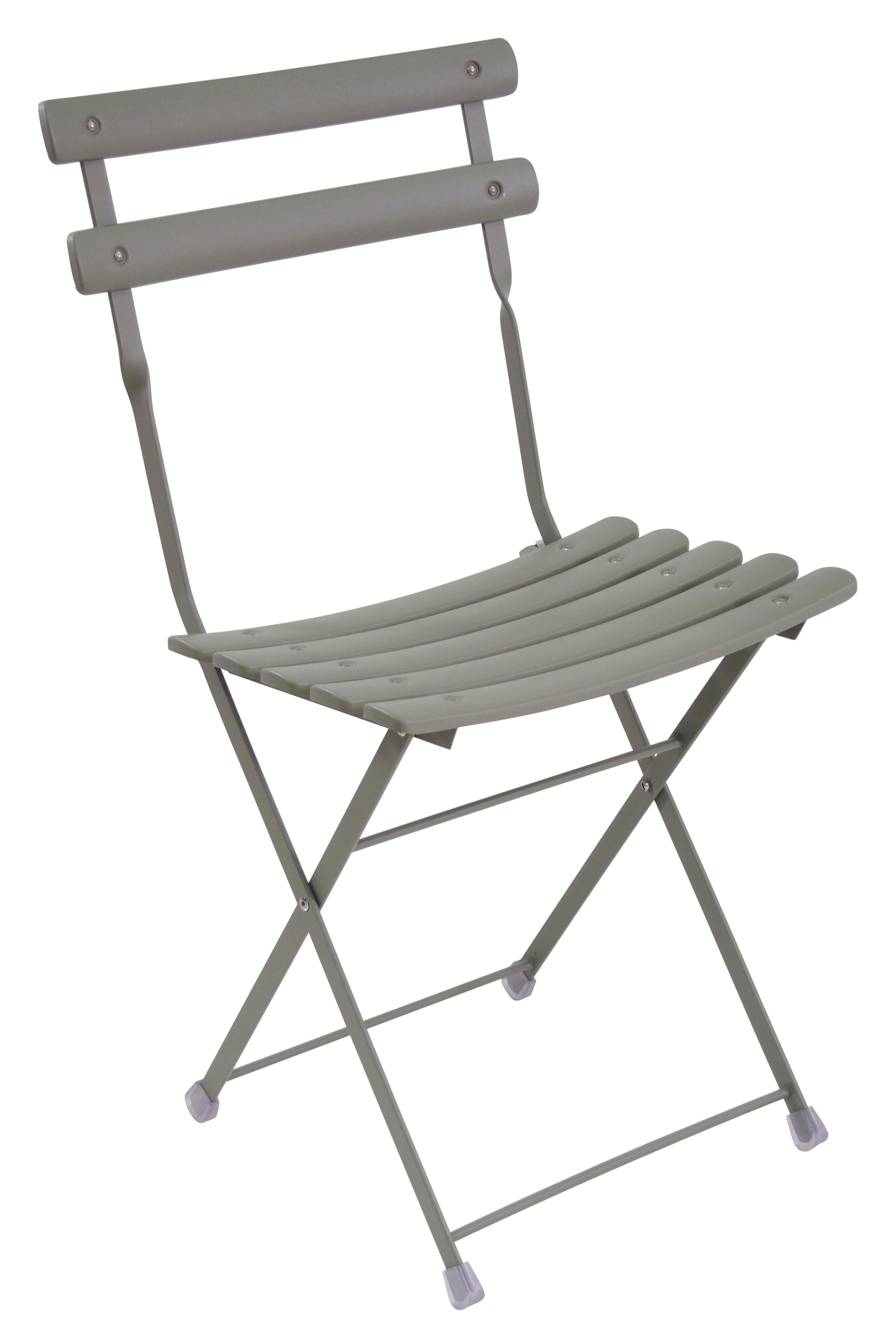 Furniture - Chairs - Arc en Ciel Folding chair - Metal by Emu - Grey - Varnished steel
