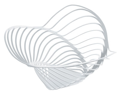 Tischkultur - Körbe, Fruchtkörbe und Tischgestecke - Trinity Korb / Ø 33 x 16 cm - Alessi - Weiß - bemalter Stahl