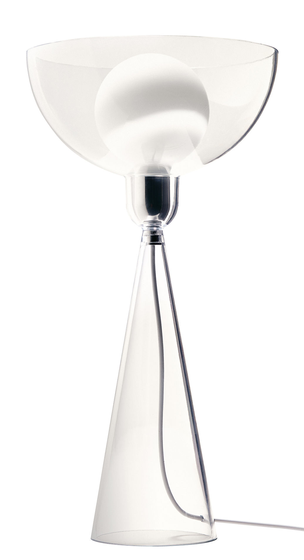 Luminaire - Lampes de table - Lampe de table Lady Shy / H 38 cm - Alessi - Transparent - Polycarbonate