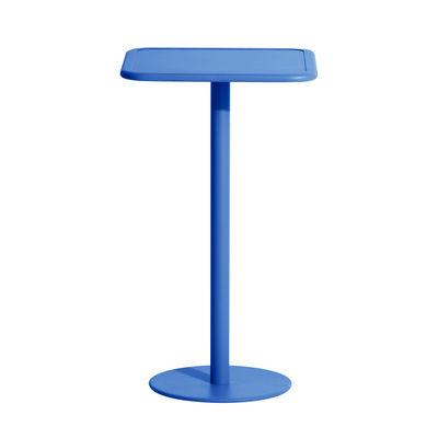 Mobilier - Mange-debout et bars - Mange-debout Week-End / 60 x 60 cm x H 105 cm - Petite Friture - Bleu - Aluminium thermolaqué époxy