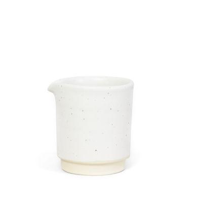 Küche - Zuckerdosen und Milchkännchen - Otto Small Milchtopf / Ø 7 x H 8 cm - Frama  - Weiß - emaillierter Sandstein