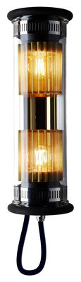 Lighting - Wall Lights - In The Tube 100-350 Outdoor wall light - L 37 cm by DCW éditions - Gold / Gold mesh - Borosilicated glass, Brass, Stainless steel