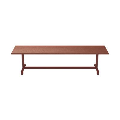 Arredamento - Panchine - Panchina Unify - / L 180 cm - Rovere di Petite Friture - Rosso-marrone - Acciaio laccato, MDF rivestito in rovere