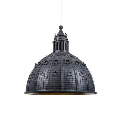 Lighting - Pendant Lighting - Cupolone LED Pendant - / Saint Peter's Basilica dome - Ø 45 cm - Resin by Seletti - Charcoal grey - Resin