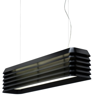 Lighting - Pendant Lighting - Louvre Light Pendant - Suspension by Established & Sons - Anodised black - Anodized aluminium