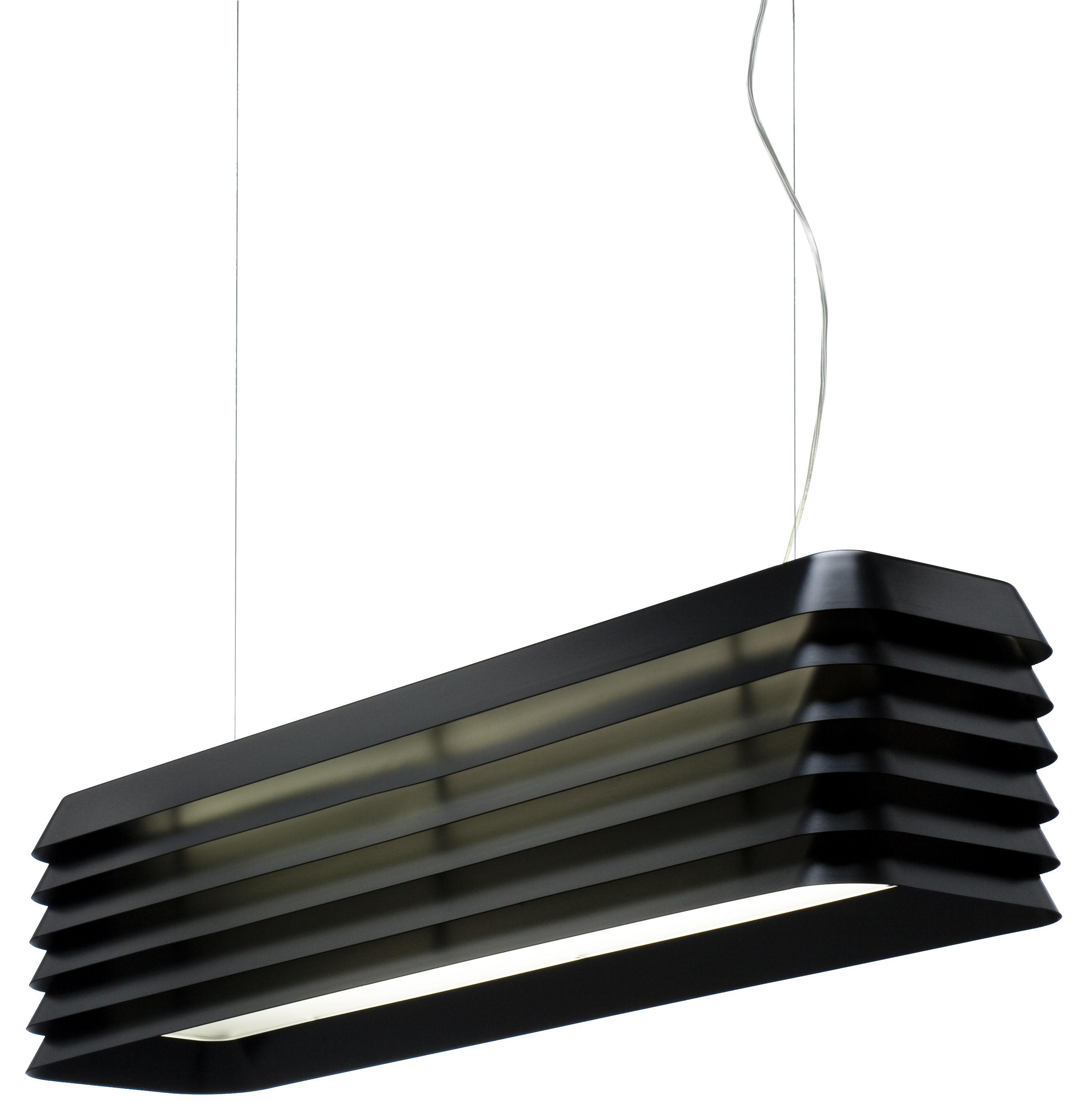 Leuchten - Pendelleuchten - Louvre Light Pendelleuchte - Established & Sons - Schwarz eloxiert - eloxiertes Aluminium
