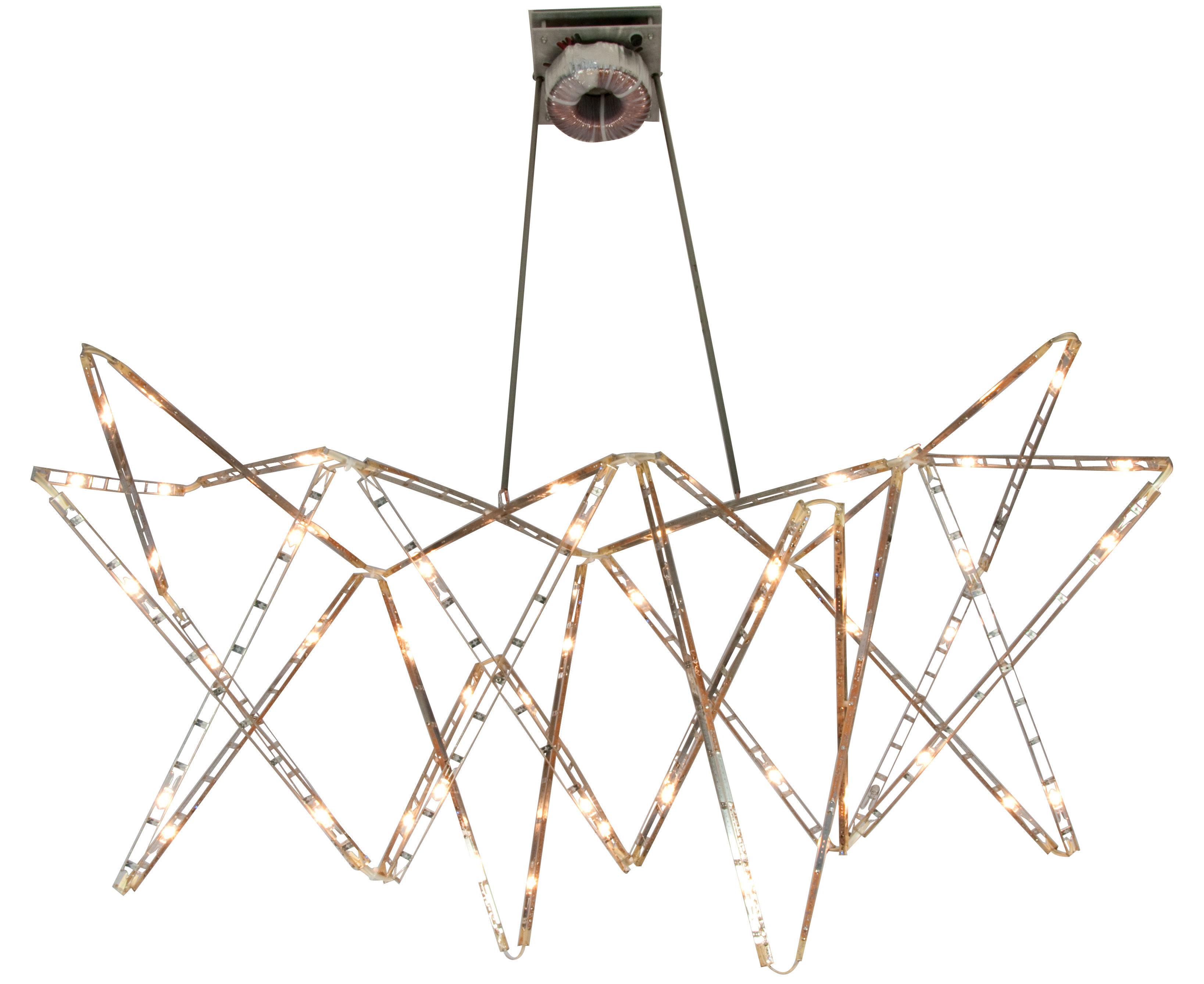 Leuchten - Pendelleuchten - Vaisseau céleste Pendelleuchte mit Gelenken - Tsé-Tsé - Edelstahl - rostfreier Stahl