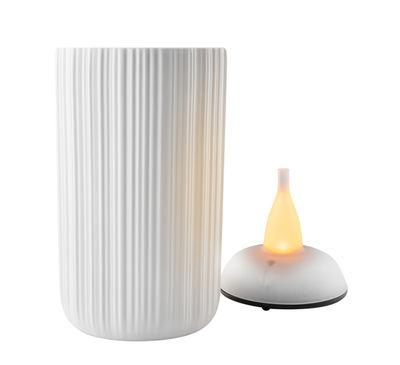Déco - Bougeoirs, photophores - Photophore LED / H 13 cm - Eva Solo - H 13 cm / Blanc - Porcelaine