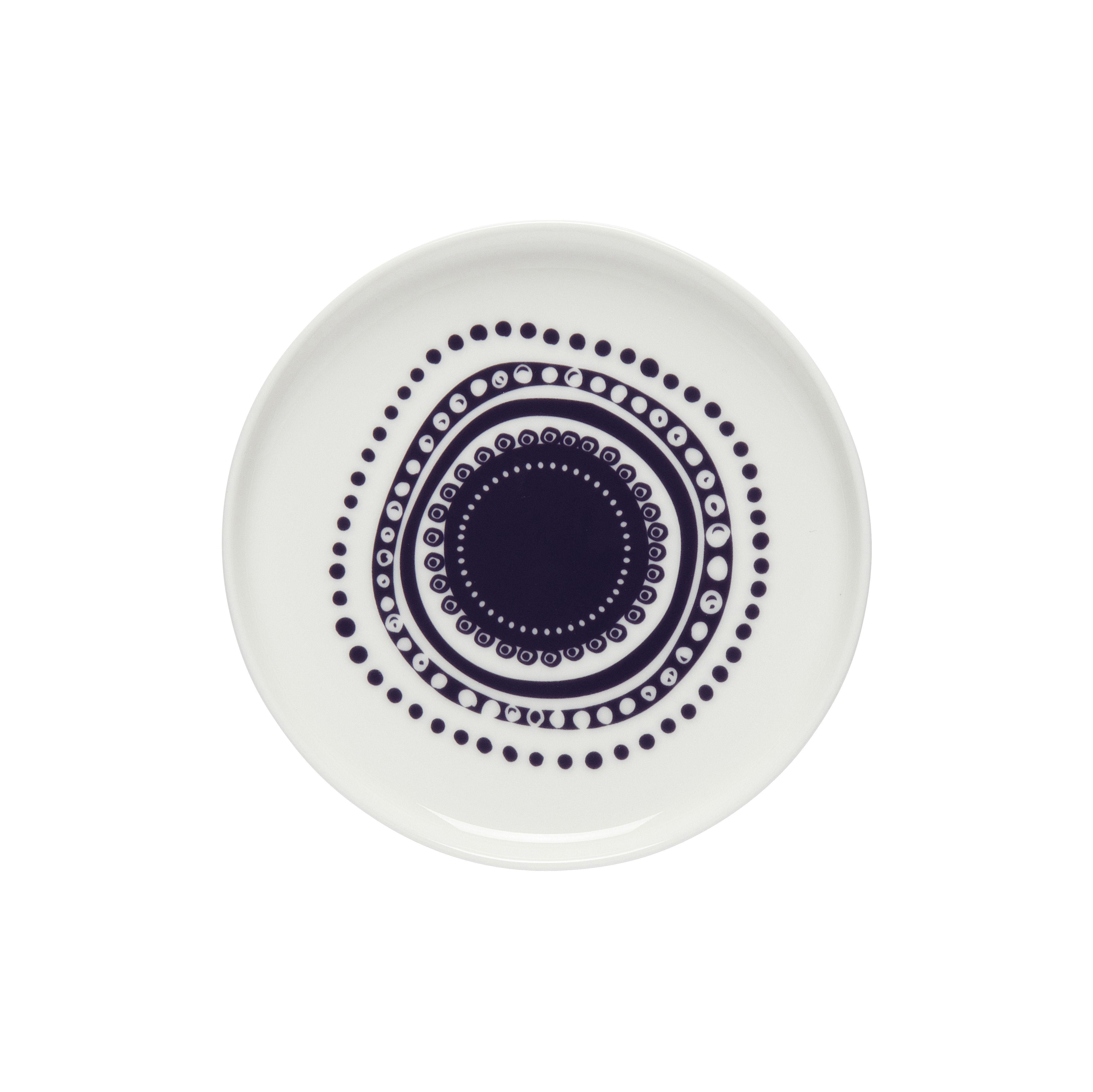 Tavola - Piatti  - Piatto per dolcetti Svaale - / Ø 13,5 cm di Marimekko - Svaale / viola - Gres