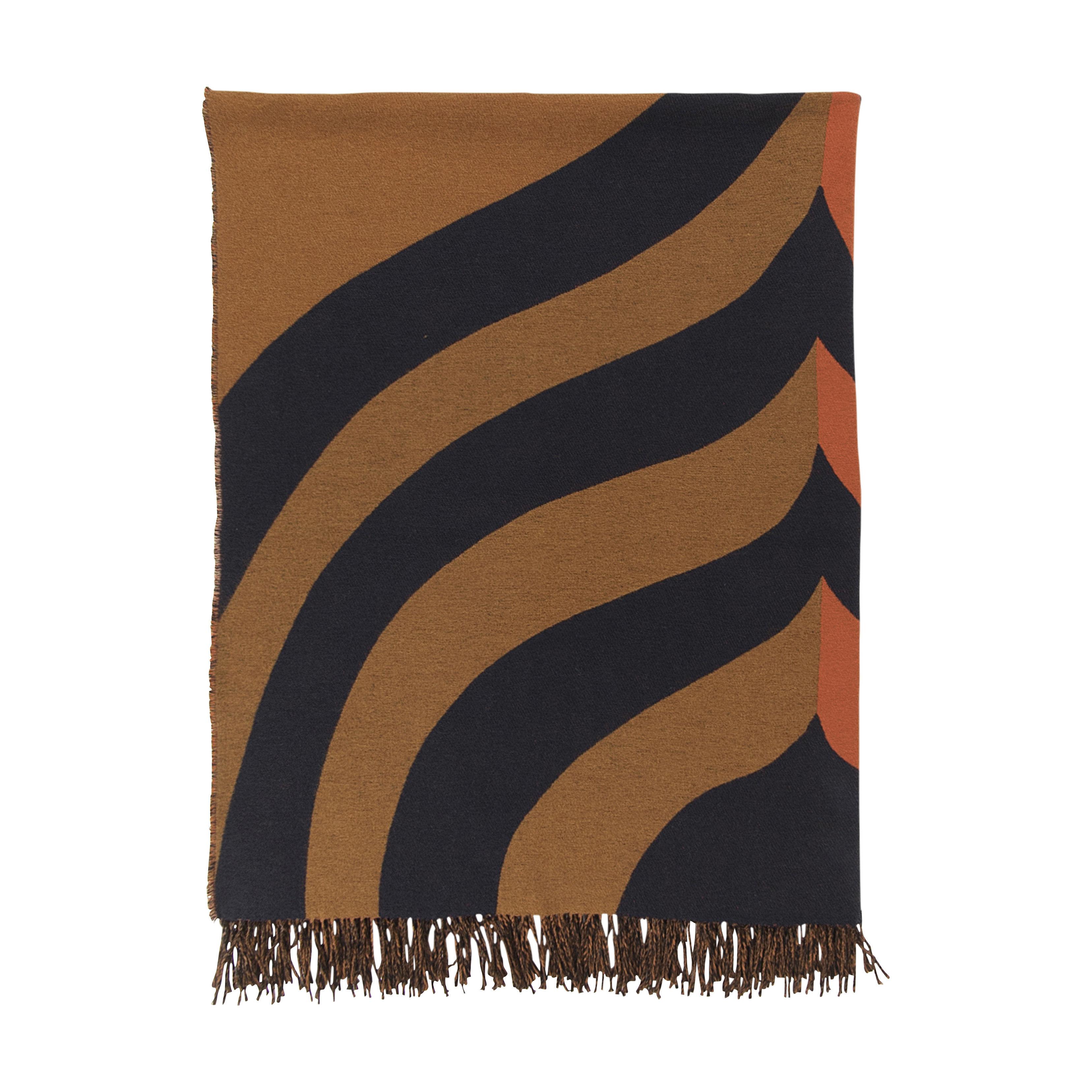 Interni - Tessili - Plaid Keisarinkruunu - / 130 x 170 cm di Marimekko - Keisarinkruunu / marrone & arancione - Cotone, Lana, Poliammide