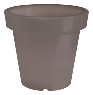 Pot de fleurs lumineux Bloom / H 60 cm - Bloom! taupe en matière plastique