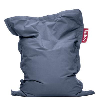 Pouf Junior Stonewashed / Pour enfant - Fatboy Larg 100 x L 130 cm bleu en tissu