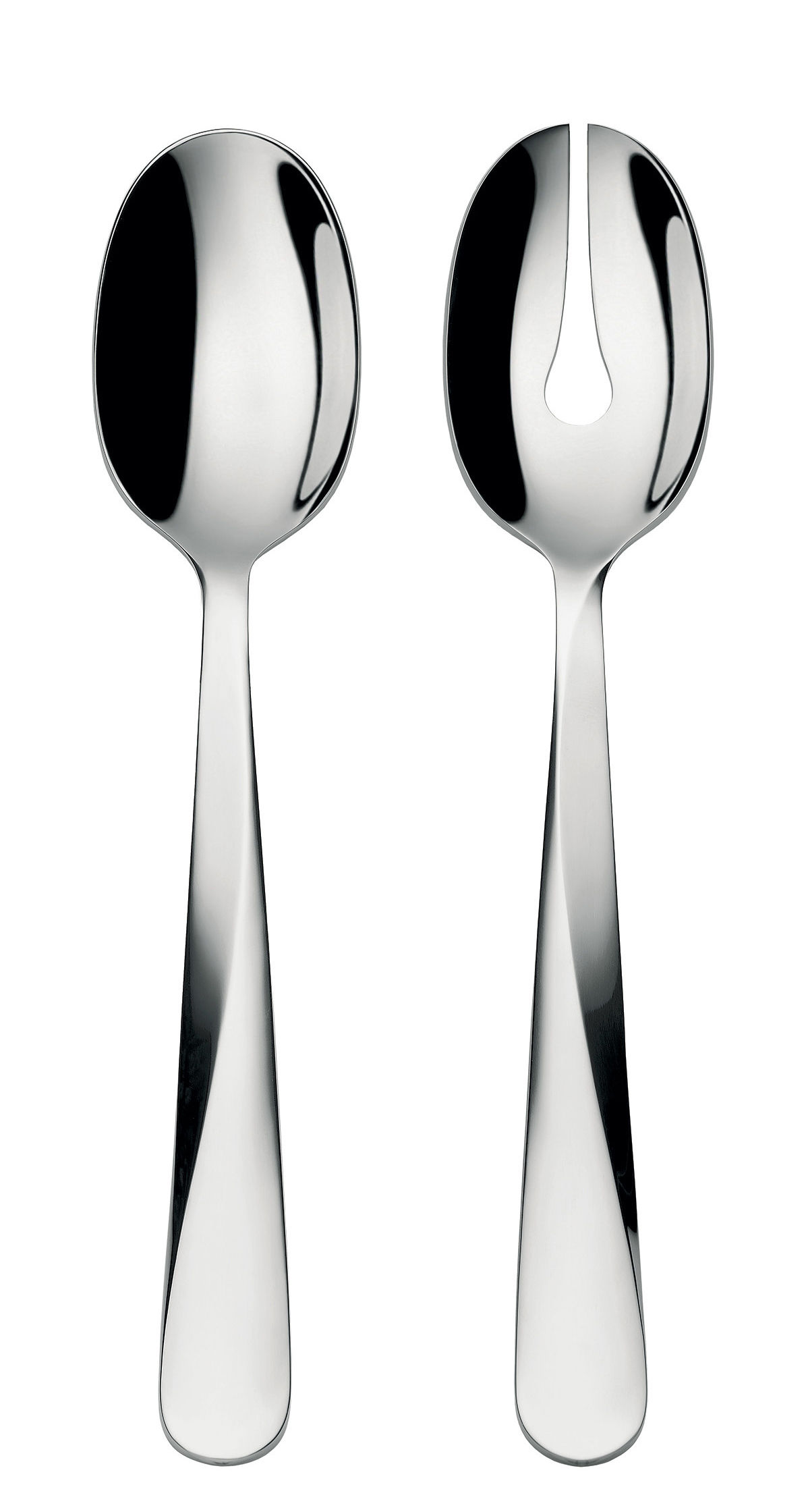 Tableware - Serving Cutlery - Giro Salad servers by Alessi - Steel - Stainless steel