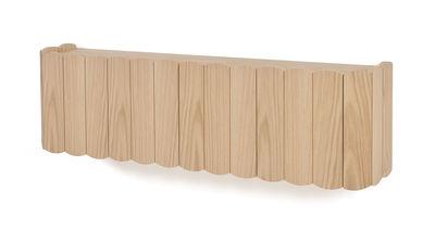 Arredamento - Scaffali e librerie - Scaffale Fanny - / L 124 cm - Rovere di Hartô - Rovere naturale - MDF rivestito in rovere