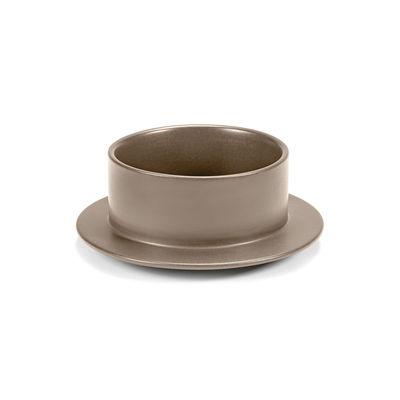 Tischkultur - Salatschüsseln und Schalen - Dishes to Dishes - Grès Schale / Medium- Ø 20,5 x H 8 cm - valerie objects - Beige - Sandstein