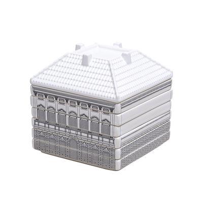 Tavola - Ciotole - Servizio di piatti Palace - Borghese - / 6 patto da dessert + 1 ciotole sovrapponibili di Seletti - Bianco & nero - Porcellana di Limoges