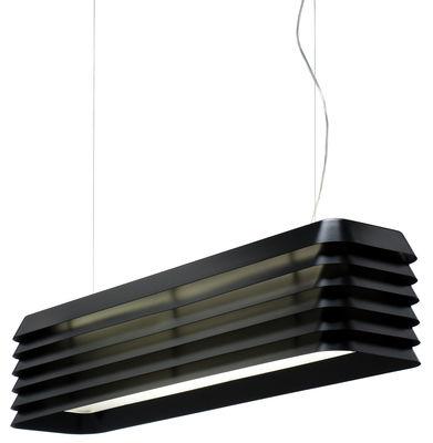 Illuminazione - Lampadari - Sospensione Louvre Light di Established & Sons - Nero anodizzato - Alluminio anodizzato
