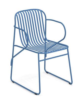 Riviera Stapelbarer Sessel / Metall - Emu - Blau