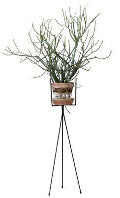 Interni - Vasi e Piante - Supporto per vaso di fiori Plant Stand LARGE - per piante Stand Large / Per vasi di fiori - H 65 cm di Ferm Living - H 65 cm / Nero - Acciaio laccato