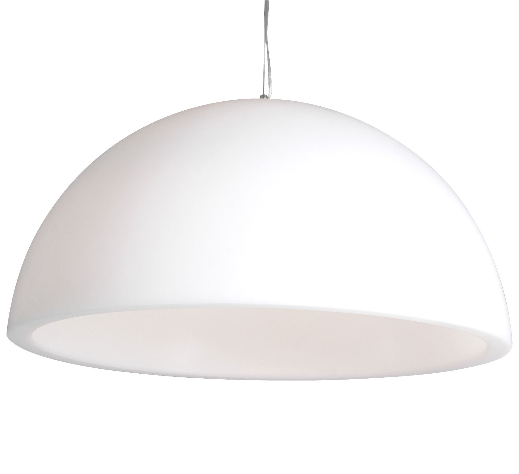 Luminaire - Suspensions - Suspension Cupole Ø 200 cm / Version mate - Slide - Blanc - Polyéthylène