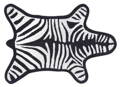 Accessori moda - Accessori bagno - Tappeto da bagno Zebra / Reversibile - 112 x 79 cm - Jonathan Adler - Bianco / Nero - Cotone