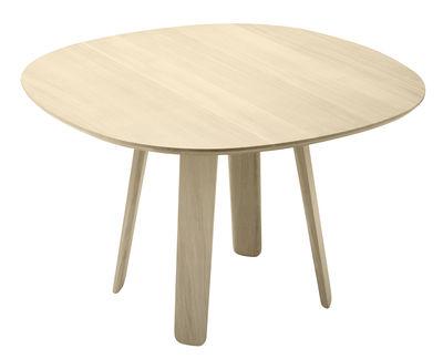 Arredamento - Tavoli - Tavolo rotondo Triku - / Ø 100 cm - Rovere massello di Alki - Rovere naturale - Rovere massello