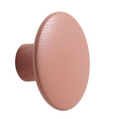 Möbel - Garderoben und Kleiderhaken - The dots Wandhaken / Small - Ø 9 cm - Muuto - Rosa - getönte Esche
