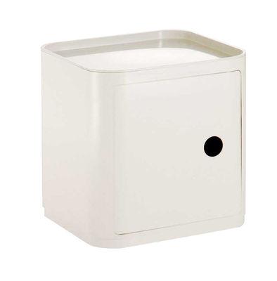 Möbel - Möbel für Teens - Componibili Ablage quadratisch - Kartell - Weiß - ABS