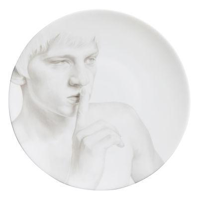 Assiette Collection Blanche / Secret - Ø 27 cm - Th Manufacture blanc en céramique
