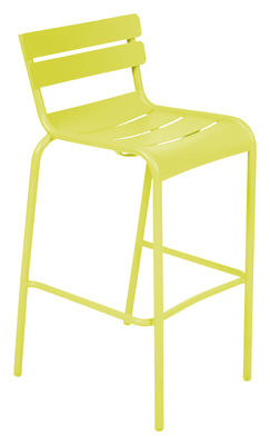 Life Style - Luxembourg Bar chair - H 80 cm - Metal by Fermob - Verbena - Lacquered aluminium
