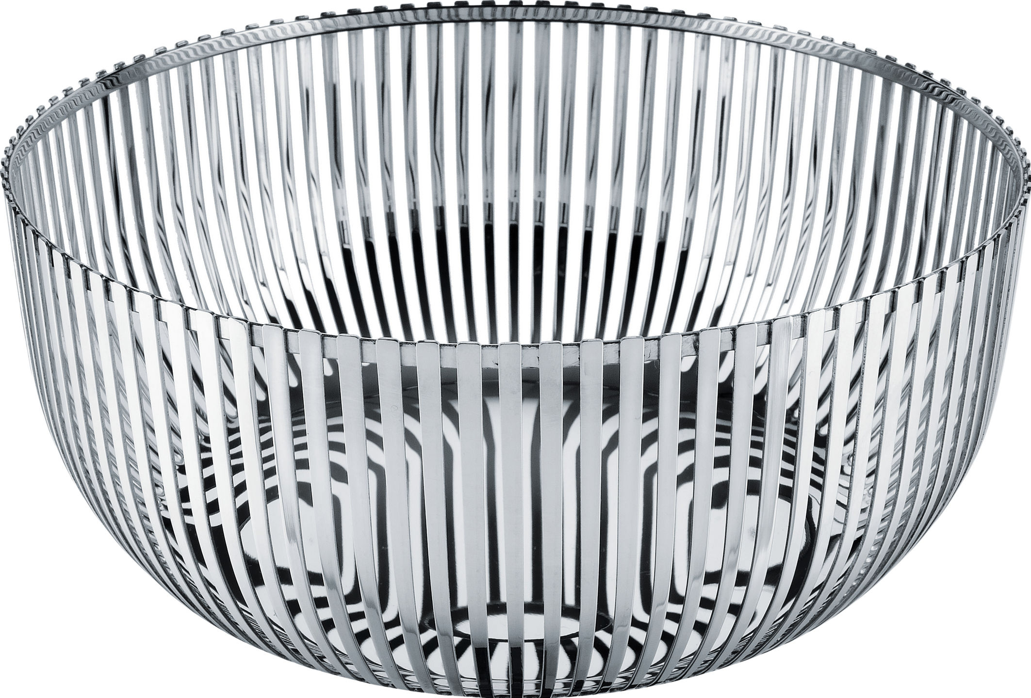 Tableware - Fruit Bowls & Centrepieces - PCH05 par Pierre Charpin Basket - by Pierre Charpin / Ø 24 cm by Alessi - Ø 24 cm - Mirror polished steel - Stainless steel 18/10