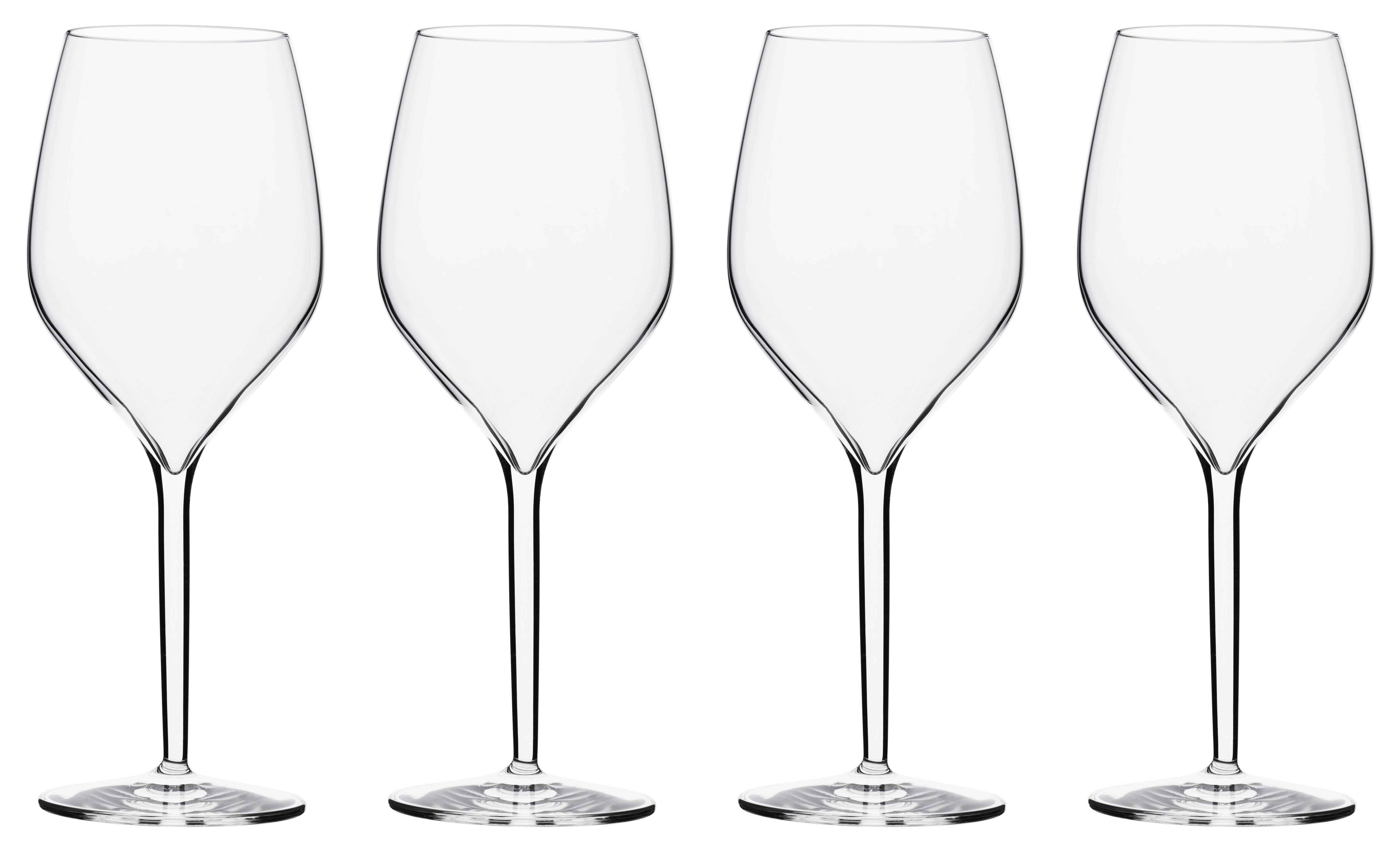 Tavola - Bicchieri  - Bicchiere da vino Vertical Large - lotto da 4 - 50 cl di Italesse - Per vino rosso o bianco / 50 cl - Vetro