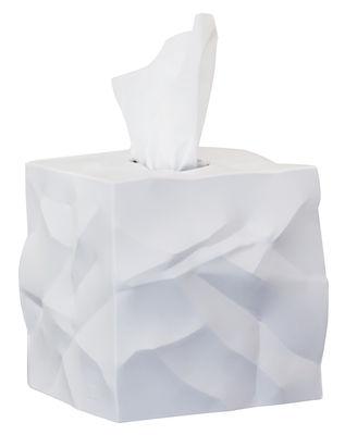 Boîte à mouchoirs Wipy / Carrée - Essey blanc en matière plastique