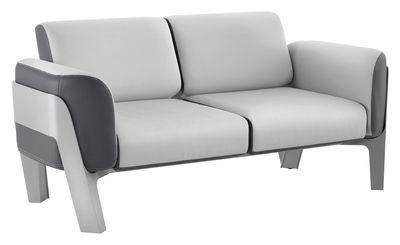 Canapé droit Bienvenue / Vinyle / L 186 cm - 2 places - EGO Paris gris clair,gris foncé en cuir