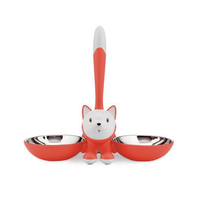 Accessori - Animali domestici - ciotola per gatti Tigrito di A di Alessi - Arancione - Acciaio inossidabile, Resina termoplastica