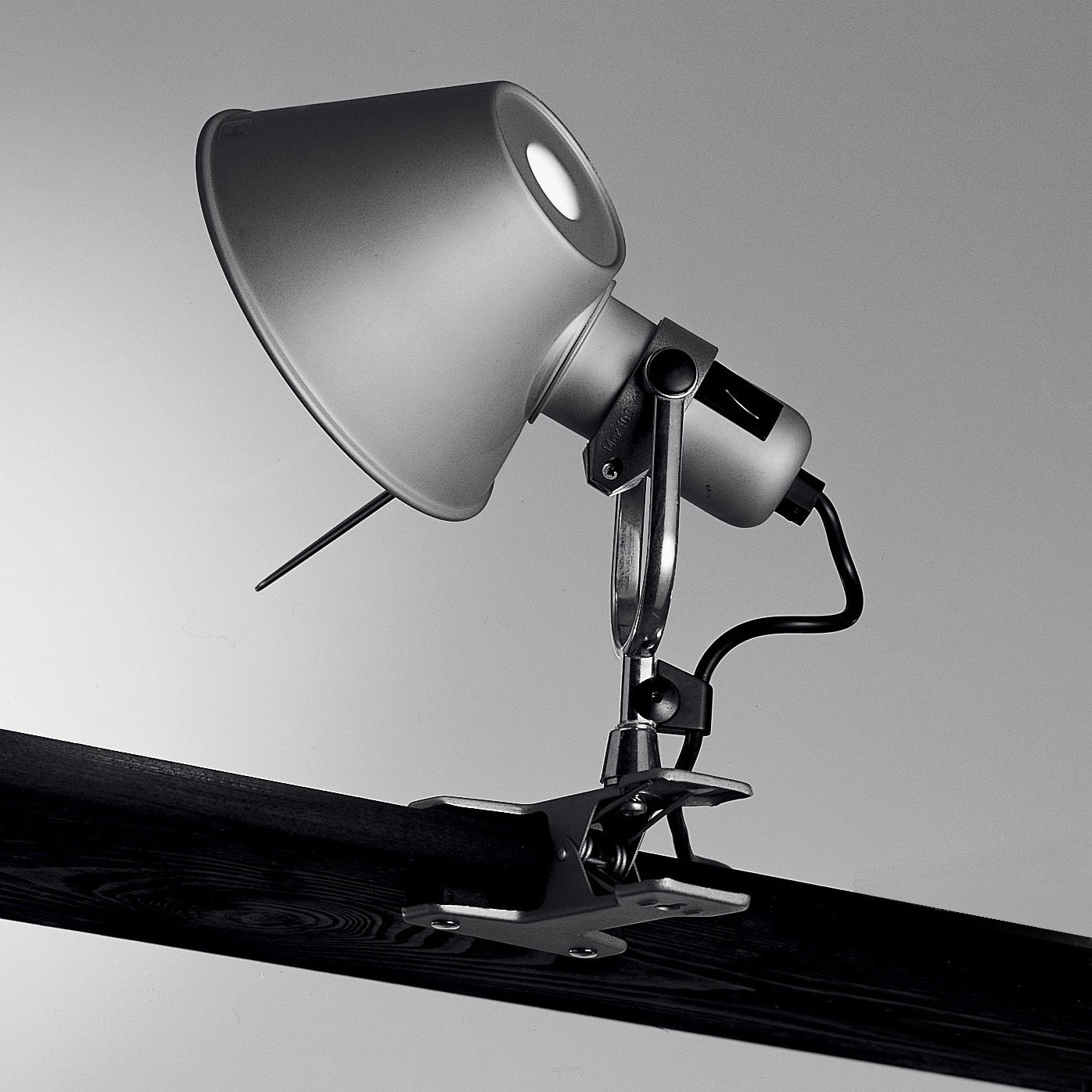 Lighting - Wall Lights - Tolomeo Pinza LED Clip light - LED by Artemide - H 23 cm - Aluminium - Aluminium, Steel