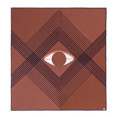 Couvre-lit The Eye AP9 / 240 x 260 cm - Coton biologique matelassé - &tradition brun terre en tissu