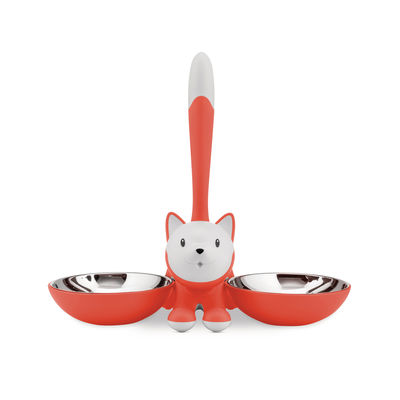 Accessories - Bird Feeder & Pet Accessories - Tigrito Dish by Alessi - Orange - Stainless steel, Thermoplastic resin