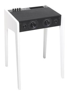 Enceinte Bluetooth LD 120 Pour ordi portable, iPod, iPhone L 57 cm La Boîte Concept blanc en bois