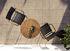 Fauteuil empilable ReCLIPS / Accoudoirs bambou - Plastique recyclé - Houe
