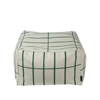 Mobilier - Poufs - Housse de pouf Tiiliskivi / 55 x 55 cm - Marimekko - Tiiliskivi / Beige & vert - Coton épais