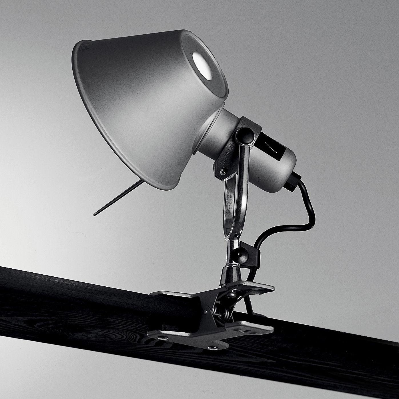 Leuchten - Wandleuchten - Tolomeo Pinza LED Klemmleuchte LED - Artemide - H 23 cm -  Aluminium - Aluminium, Stahl